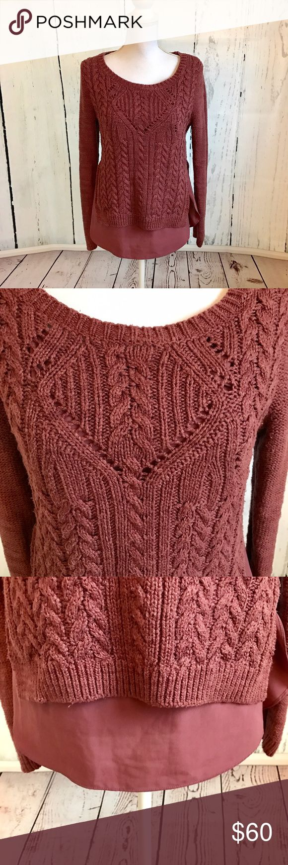 Anthropologie Moth Sweater Anthropologie Moth Sweater with skirted bottom. In good condition with minor piling under arms (see photos). Very warm and soft material. Slits up the side. 🚫Trades ✅Open to reasonable offers Anthropologie Sweaters