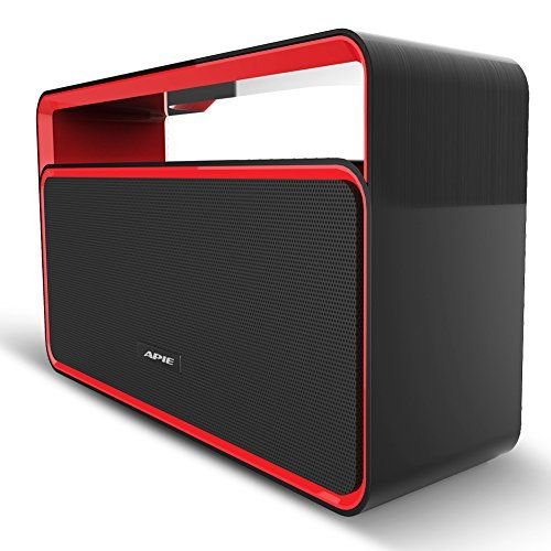Introducing Apie Wireless Bluetooth Stereo Speaker with Bass and FM Radio  Black  Red. Great Product and follow us to get more updates!