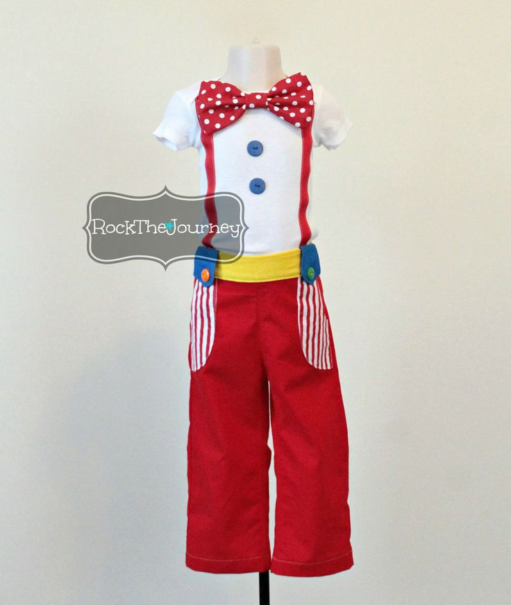 Boy Big Top Circus Clown Outfit Twin Birthday by RockTheJourney, $50.00