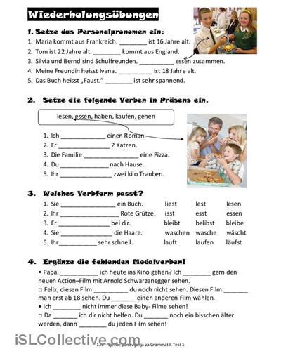 wiederholung Arbeitsblatt - Kostenlose DAF Arbeitsblätter