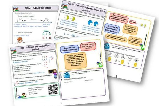 Fichier de leçons de maths CM2 - Programmes 2016