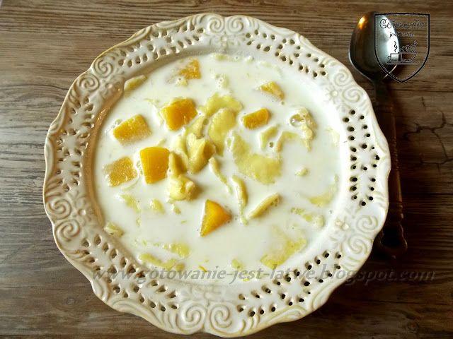 Gotowanie jest łatwe: Zupa mleczna - kluski z dynią