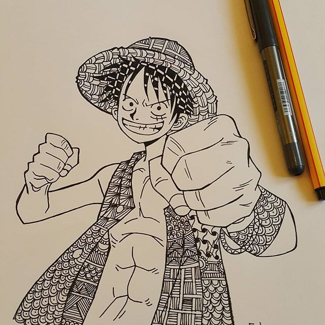 Hello everyone❤ I would like to a Say something , I'm Egyptian not Turkish I know that I have a Turkish name , but my name is also Arabian✌I said that because there are some Turkish talking Turkish with me In DM anyway I love Turkey❤ and I love Turkish people #onepiece #onepieceanime #monkeydluffy #animedrawing #japanese #drawing #anime_art #art #zentangle #zentangles #illustration #رسامين_عرب #رسامين_انمي #ون_بيس