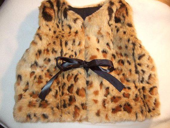 Long Pile Childs Faux Fur Vest