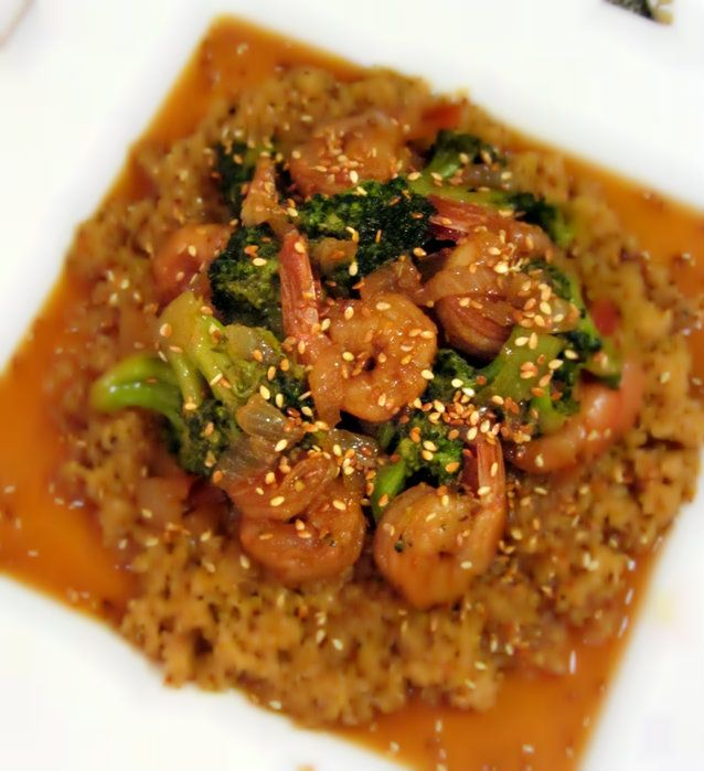 Toasted Sesame Shrimp & Broccoli Stir Fry - Plated 3.1 made april 2014...yummmm