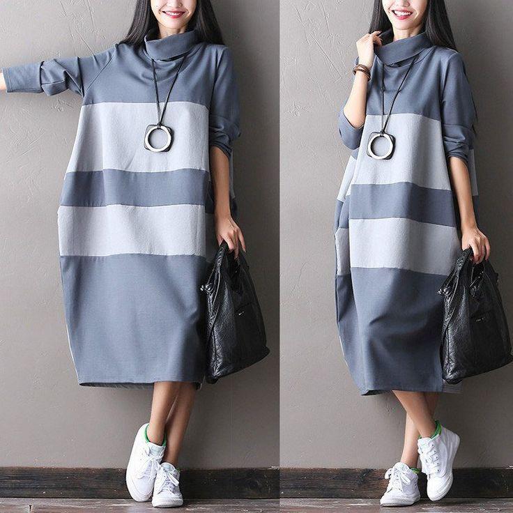 Women autumn warm long maxi dress – Buykud