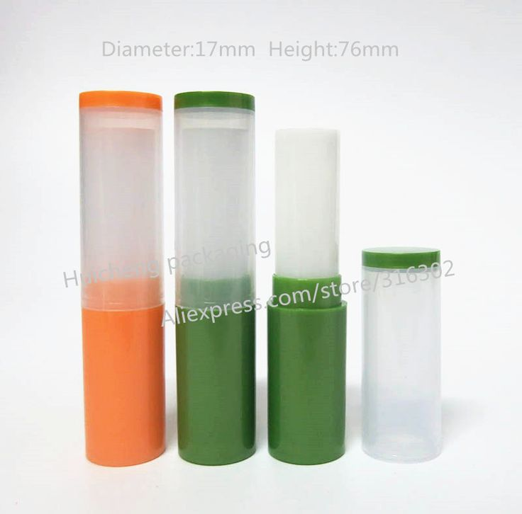 24 шт./лот 4 Г Высокая Оранжевый, Зеленый Цвет пп Бальзам Для Губ Крем Трубки, Мини-Пластиковый Контейнер Бальзам для губ, косметический Контейнер