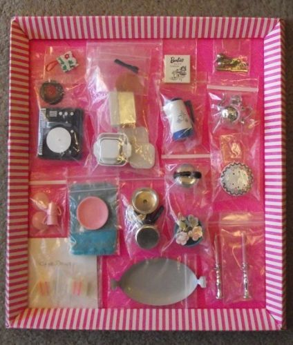BARBIE-Orig-Vint-COMPLETE-HOSTESS-SET-with-all-ACCESSORIES-CLOTHING