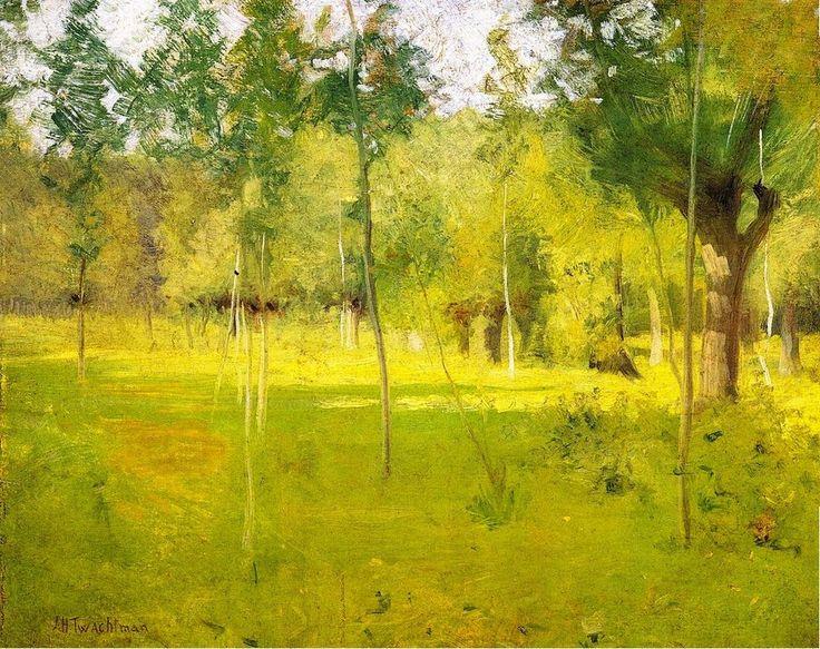 John Henry Twachtman - Spring Landscape, ca 1890