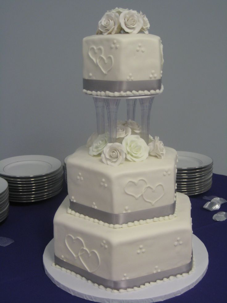 hexagon wedding cake images 95 best images about wedding cakes on 15214