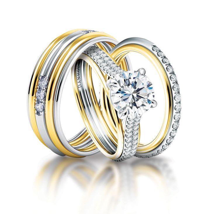 CM116 TT His Band UE105 Engagement Ring
