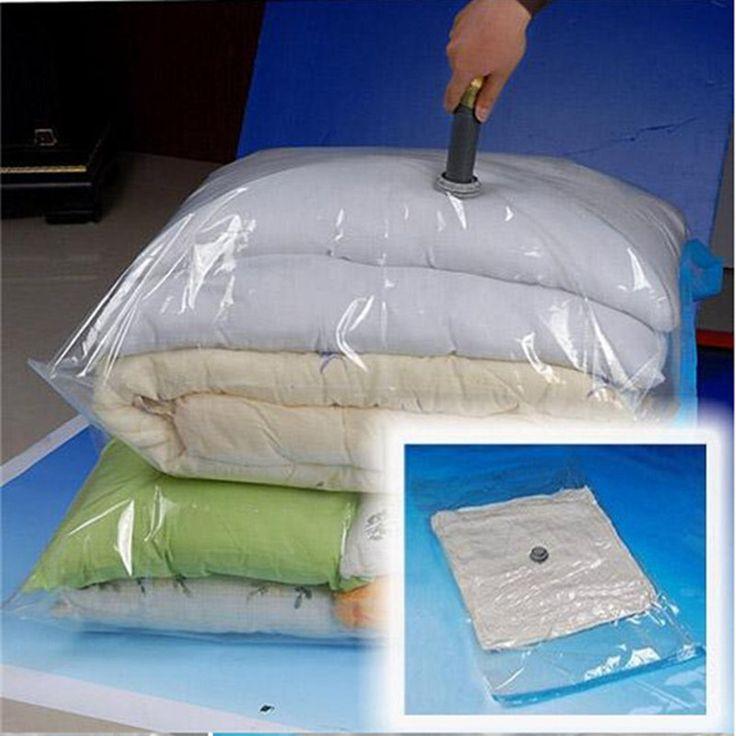 Hot Space Saver Ahorro Almacenamiento Caja Transparente Frontera Plegable Extra Grande del Sello de Vacío Comprimido Organizador Bolsas de almacenamiento de la cesta