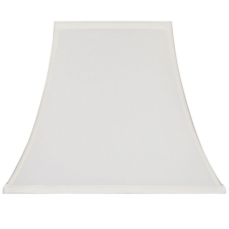 Hampton bay mix match cream ivory square bell table shade