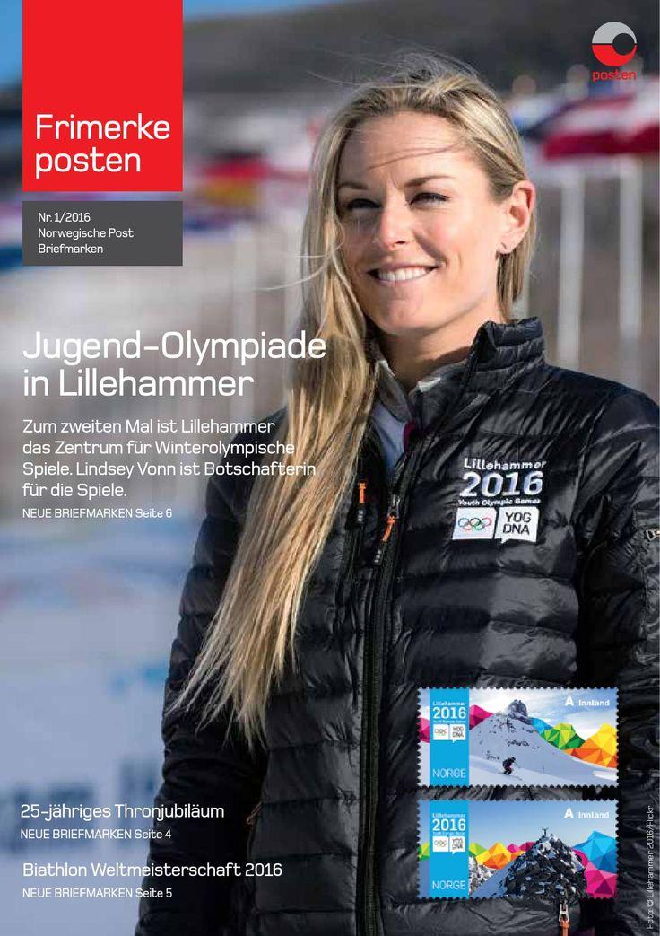 Norwegische Post Briefmarken Info-Blatt Nr. 1-2016 by Posten Norge AS - issuu