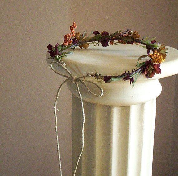 Fall Hair garland rennaisance headdress by BudgetWeddingBouquet
