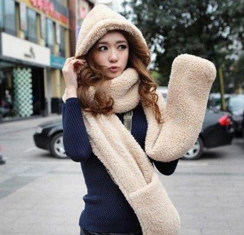 Aliexpress.com: Comprar 2015 otoño y el invierno envío gratuito súper calientes de la felpa sheep Wool cap con bufanda guantes sombrero mujeres moda las mujeres set bufanda caliente de Accesorios para GPS fiable proveedores en girlswalker Accessories