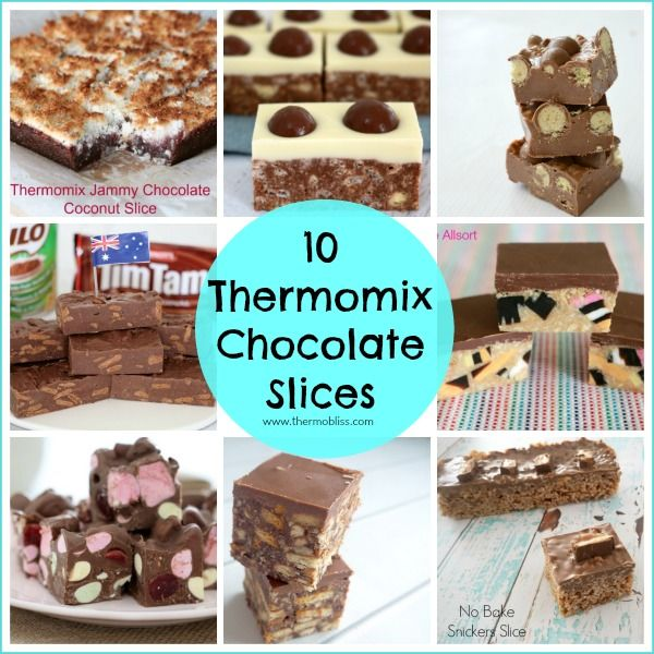 It's no secret that we LOVE all things Chocolate, so we've put together this collection of 10 Chocolate Slices to make in your Thermomix and we're pretty confident you are going to LOVE them too!