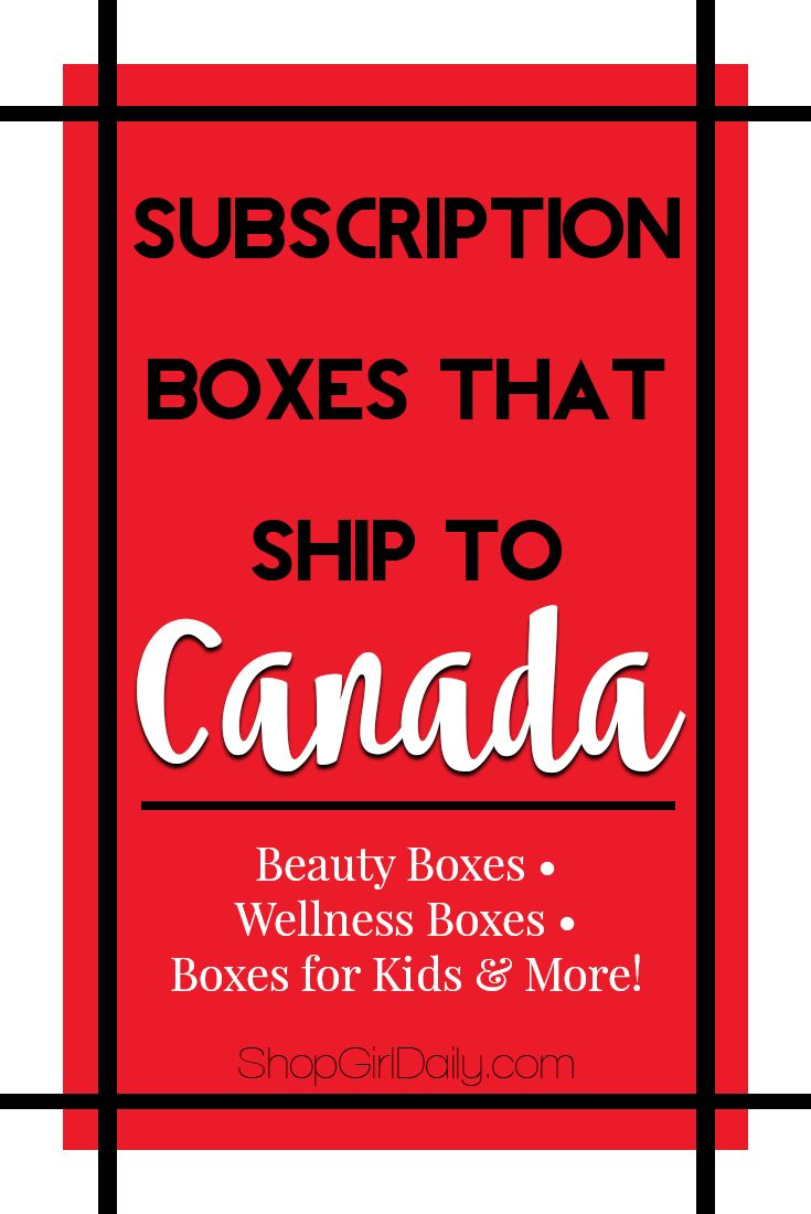This is a list of Canadian subscription boxes, as well as subscription boxes that ship to Canada. This list includes beauty boxes, kids boxes & more. via @shopgirldaily