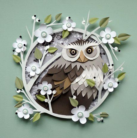 Owl: A World of Paper: Artist Helen Musselwhite