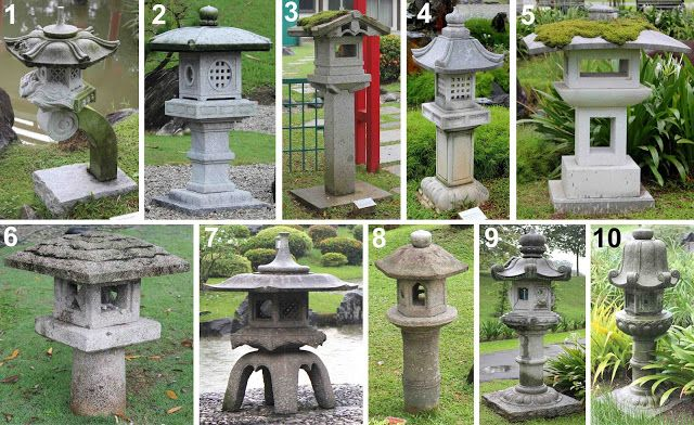 japanese garden lanterns | Bonsai Blog: Stone lanterns at Singapore Japanese Garden