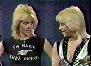 Cherie and Marie Currie. Think this pic is quite hilariuous.