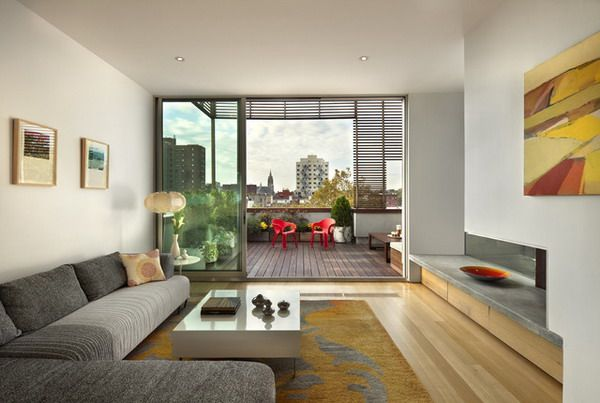 modern zen living room design with natural color carpet and patio