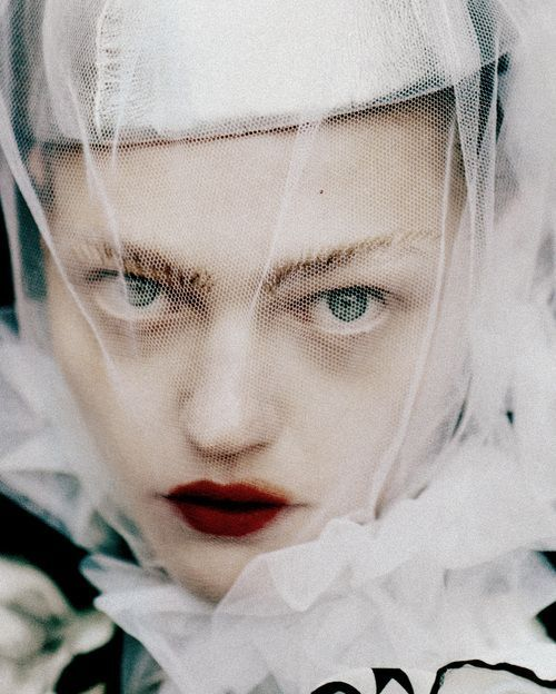 Tim Walker and Sasha Pivovarova  in these eyes the past meets the future