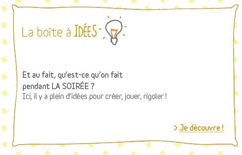 Ici il y a plein d'idées pour créer, jouer, rigoler pendant une soirée pyjama ! www.vertbaudet.fr