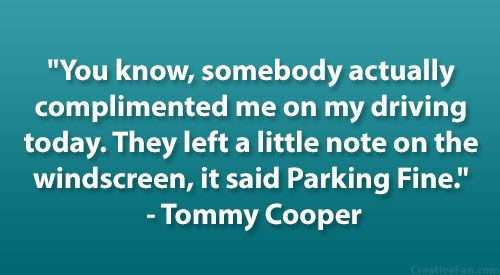 Tommy Cooper Quote