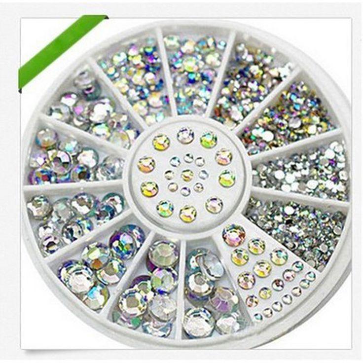 1pcs Hot Wheels Sale Nail Art Rhinestone Crystal Nail Decoration Shining Nail Art With Wheel Charming DIY Art Decoration Beauty