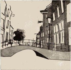 07 canal scene etching aquatint