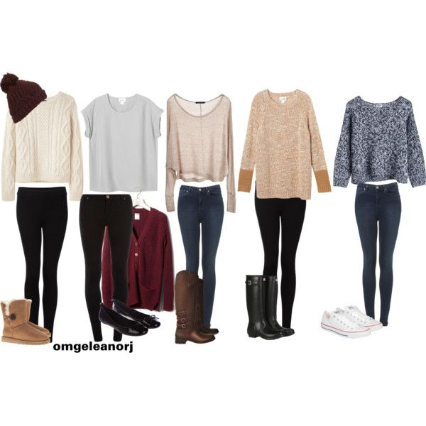"""""""5 winter outfits"""" by stylebydani on Polyvore"""