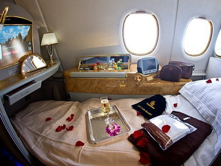Emirates Airline, Dubai, United Arab Emirates. Must fly this airline first class just for the unreal luxury. Sex and the City 2 style. Danggggg.