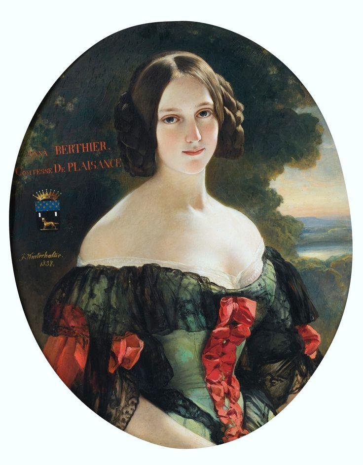 Anna Berthier (daughter of Marshal Berthier) , Countess of Plaisance, Franz Xaver Winterhalter, 1838