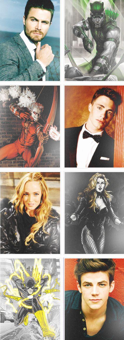 Arrow, Arsenal, Black Canary and Flash.