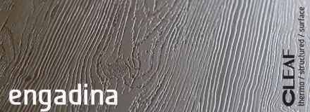 Cleaf Engadina to nowy dekor wzorowany na słojach piaskowanego drewna sosnowego. Połączenie miłego duszy retro stylu z wyrafinowaną, niezwykle głęboką strukturą, która niemal idealnie odwzorowuje naturalne drewno, jest kwintesencją filozofii charakteryzującej włoską fabrykę Cleaf. więcej: http://www.forner.pl/pl/cleaf-engadina-struktura-z-kolekcji-forner-59-cleaf