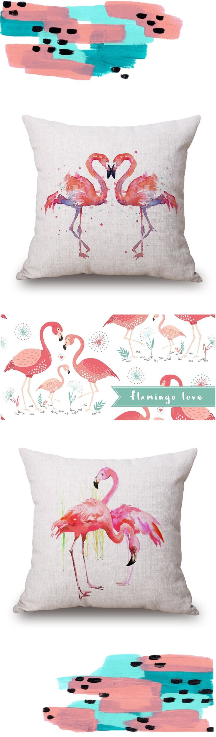 flamingo love decorative pillow covers -- keep calm and flamingle!