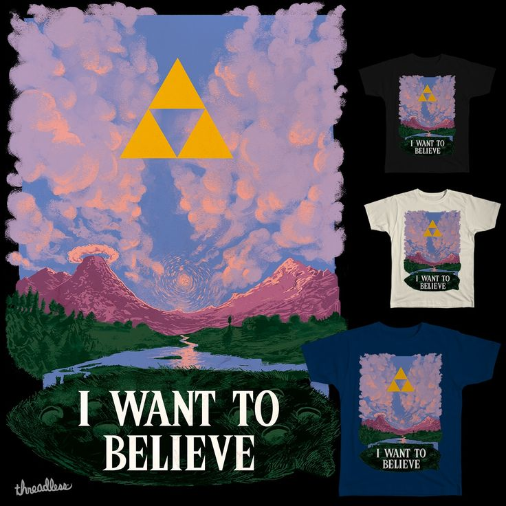 Unknown Flying Triforce on Threadless, up for voting!