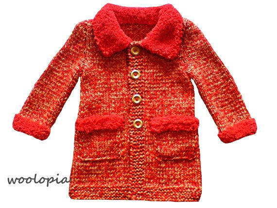 Hey, I found this really awesome Etsy listing at https://www.etsy.com/listing/170133302/handknit-baby-coat-fall-winter-coat-for