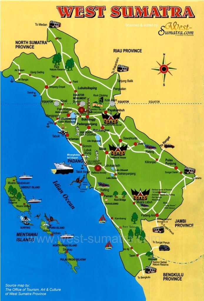 Peta Provinsi Sumatera Barat