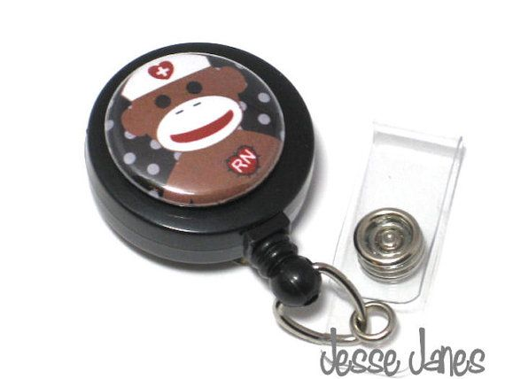 Attach a button to make a personalized badge reel.