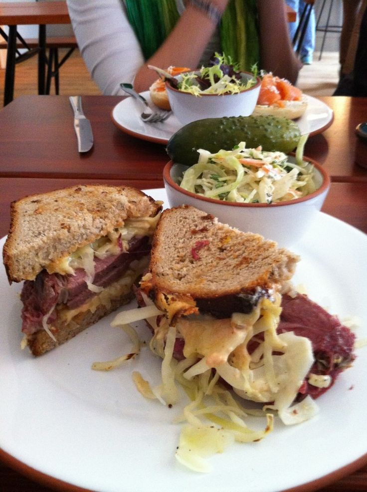 Rubber Salt Beef Sandwich At Berlins New Deli Mogg Melzer At Ehemalige Juedische