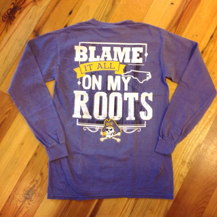 Blame it all on my Roots ECU Pirates... must have this shirt from UBE