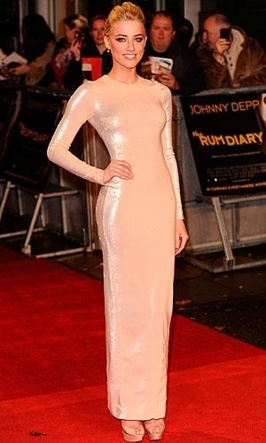 Amber Heard in Alessandra Rich