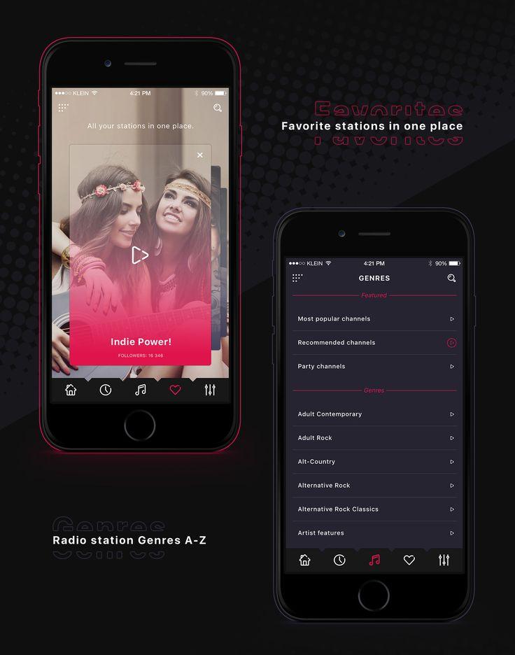 Alt Radio app on Behance