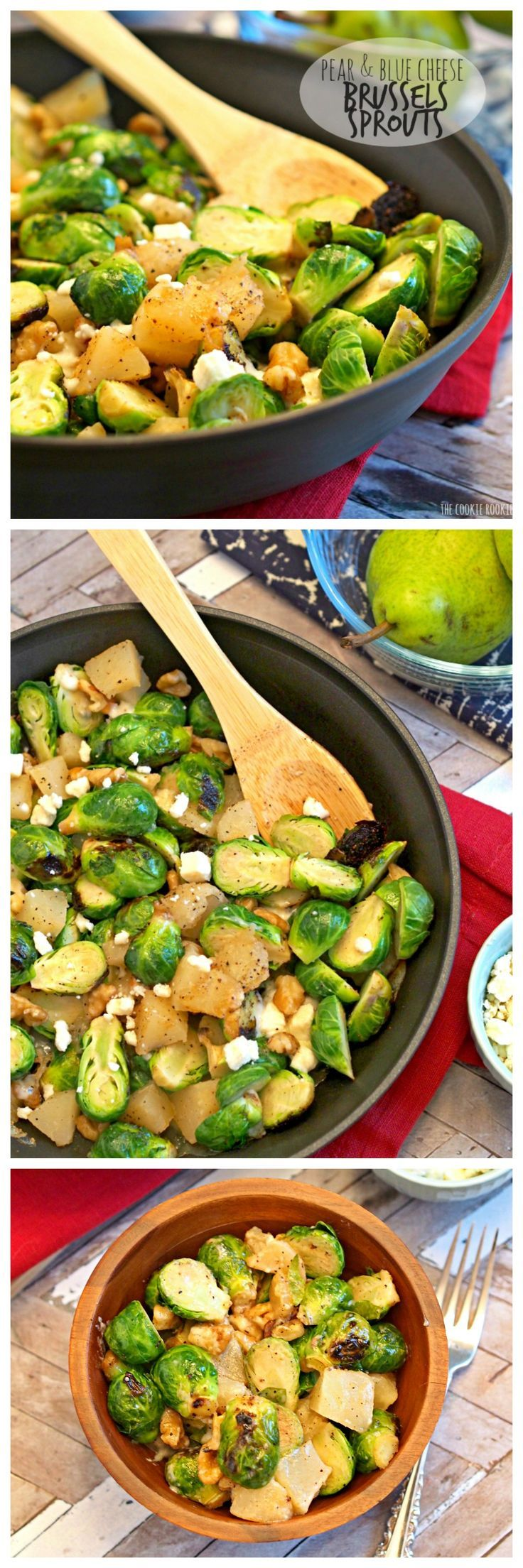 Pear and blue cheese roasted brussels sprouts recipe for Easy cold side dishes for christmas