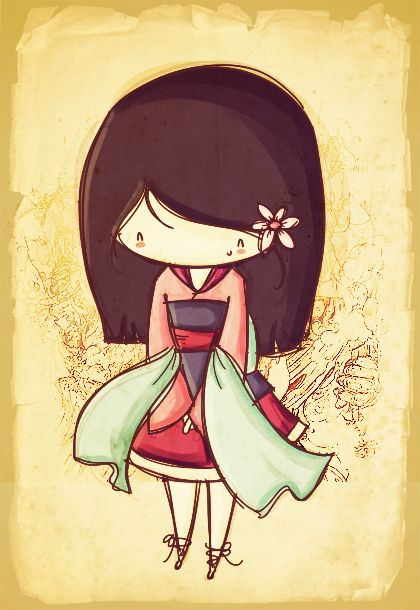 Chibi Mulan | Mulan chibi vem agora no estilo da segunda fase da Agus! Mulan é ...