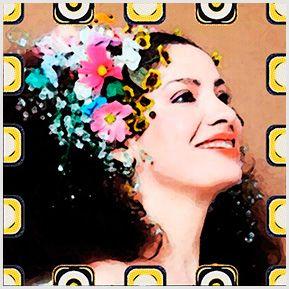 Clara Nunes -  Quadrinhos confeccionados em Azulejo no tamanho 15x15 cm.Tem um ganchinho no verso para fixar na parede. Inspirados em divas da MPB. Para entrar em contato conosco, acesse: www.babadocerto.c...