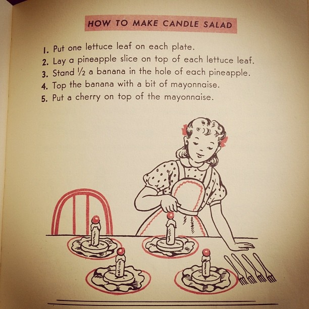 also no! from a children's cookbook from the '50's. by kittyholmes, via Flickr