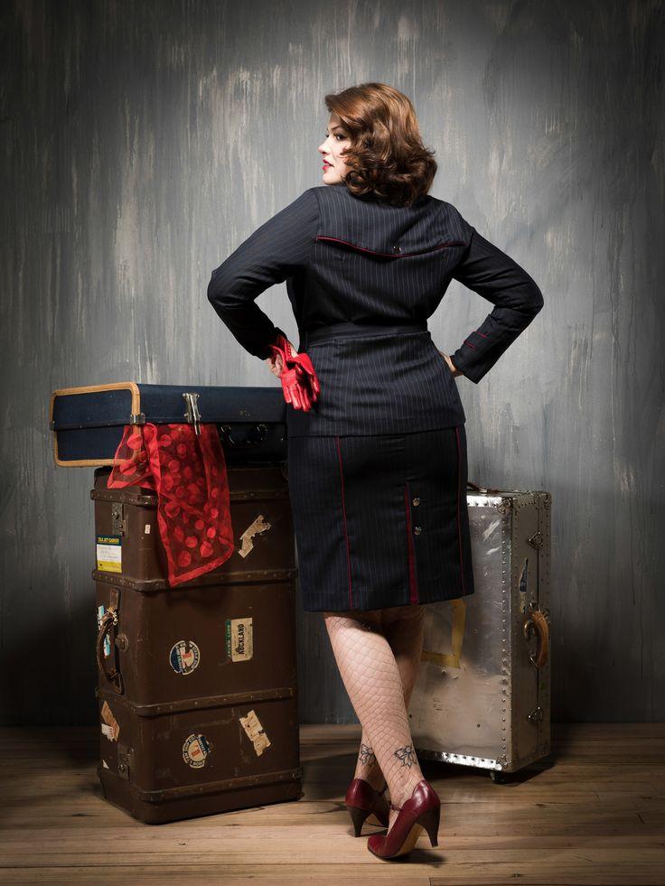 Pinstripe suit.back 3.4